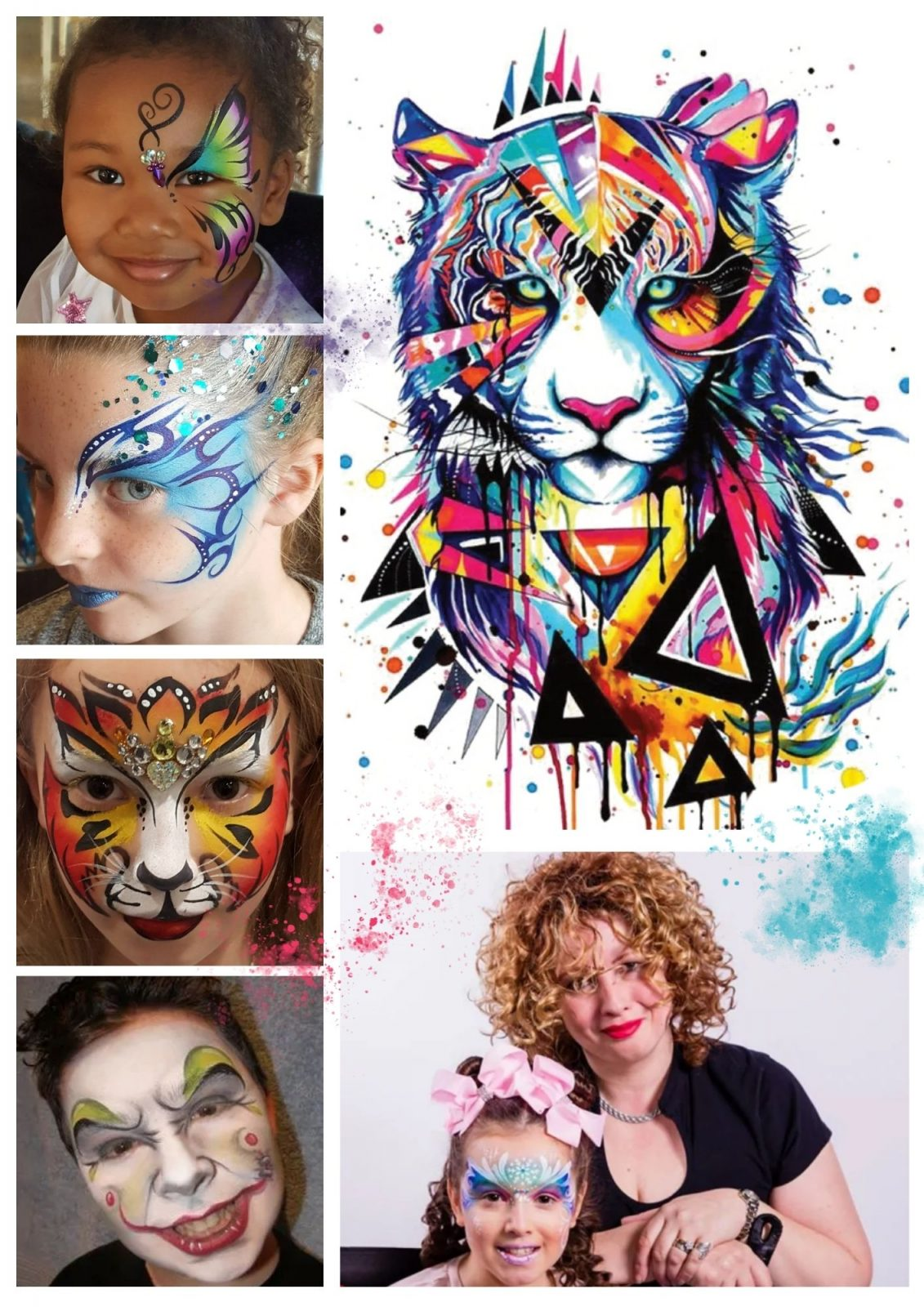 Colourful face painting pictures